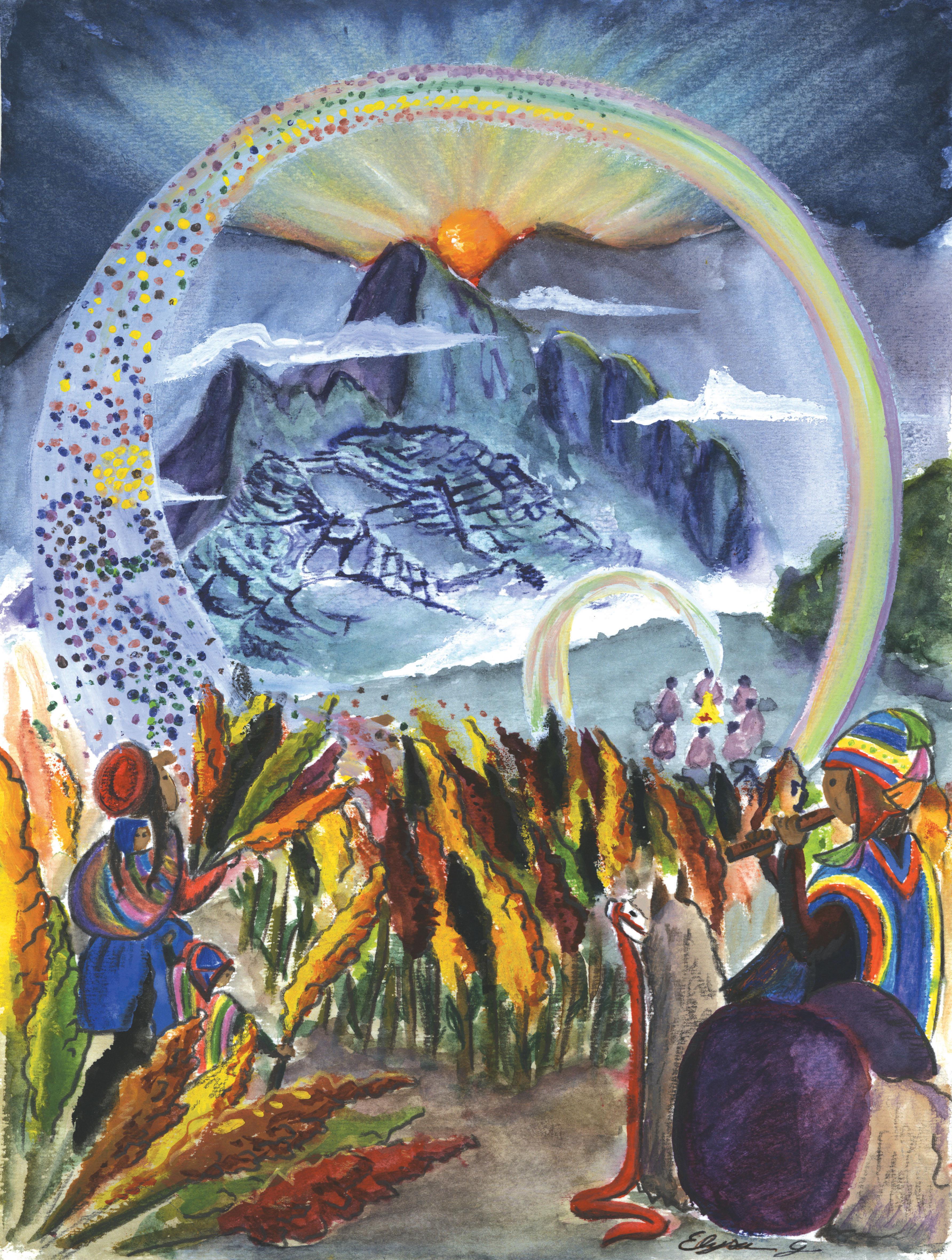 L'Arche de la Quinoa, dessin réalisé par Elysa Guillet.