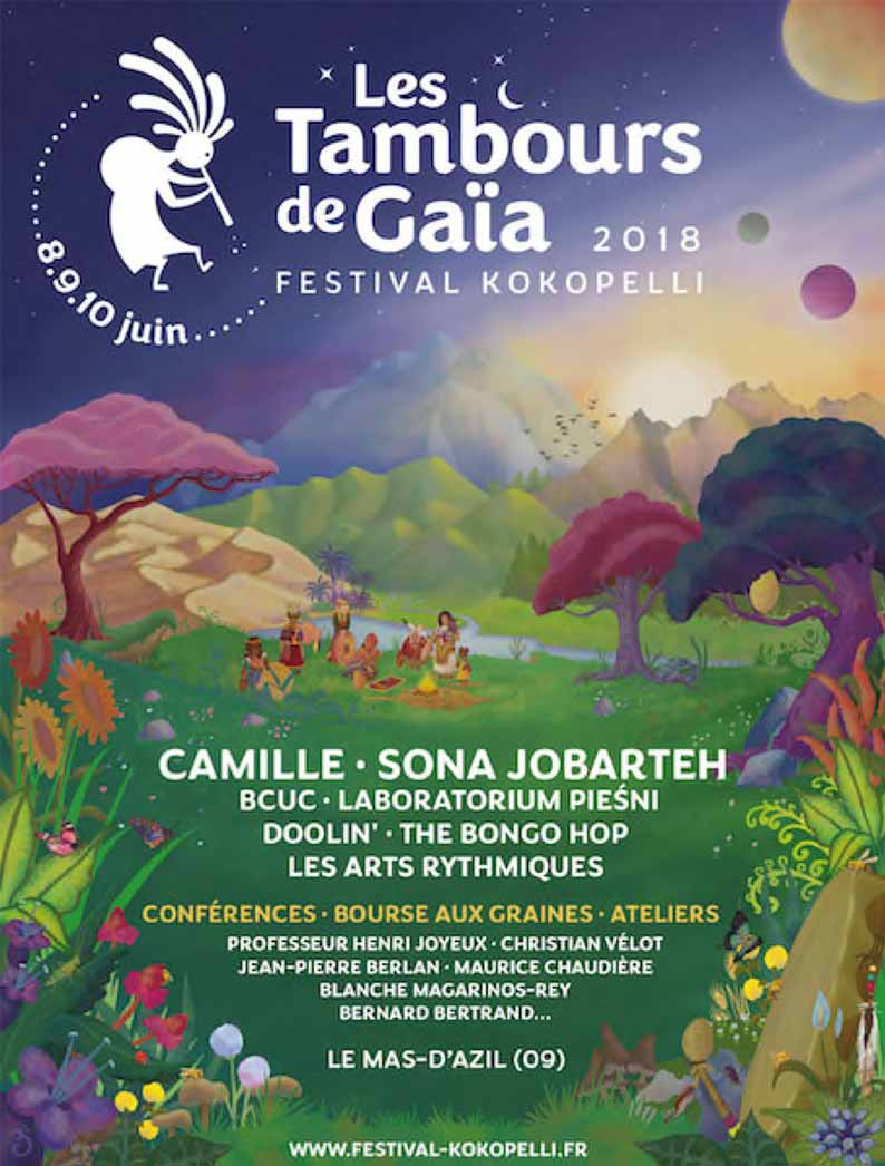 Festival kokopelli les tambours de gaia