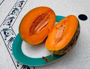 Melon de Lunéville ouvert