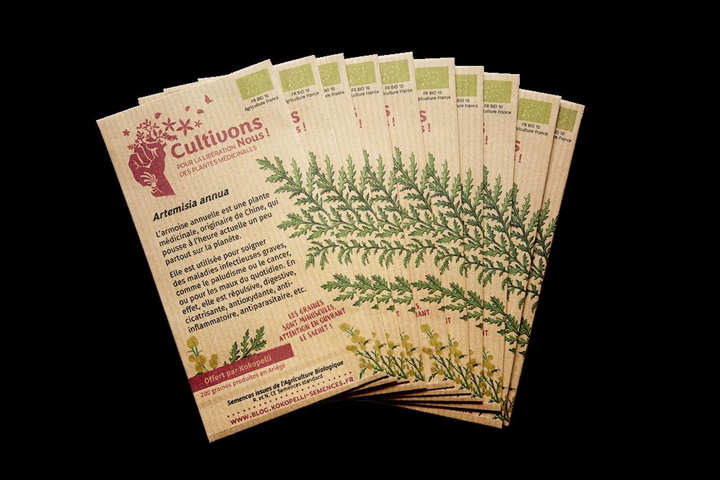 Sachets d'Artemisia annua offerts par Kokopelli