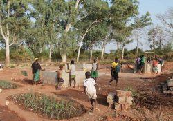 Association Conte De Fees enfants jouent potager puit Sénégal