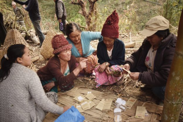Association Saano Kosheli echanges sachets NEPAL