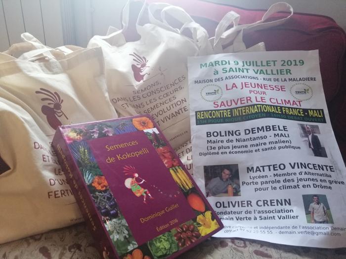 Don de semences et du manuel de production de semences pour l'événement du mardi 9 juillet 2019