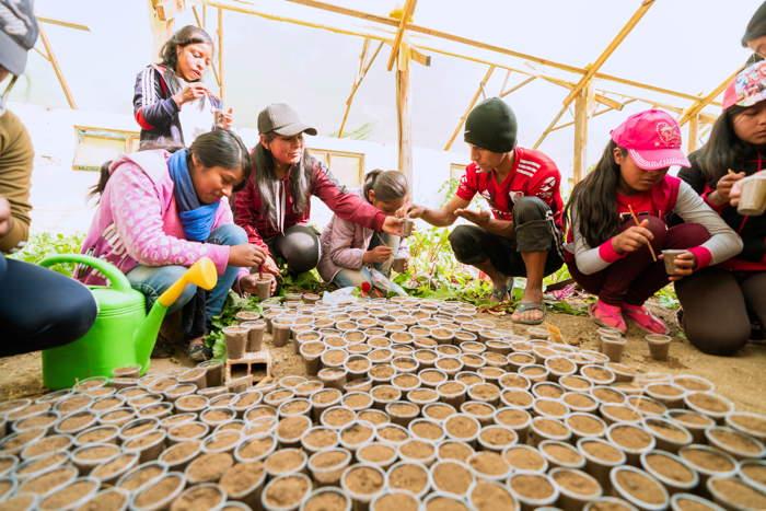 Légende: Zenon P.C. accompagne les jeunes dans l'étape des semis